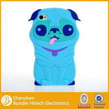 Dog 3D animal silicone phone case for iphone 4G4S