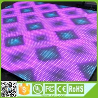 High bearing 2T/sqm strong durable p10 dance floor led display
