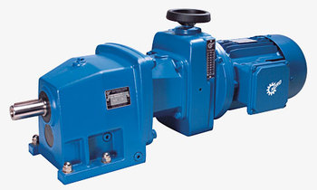 Unicase friction disc variator geared motors