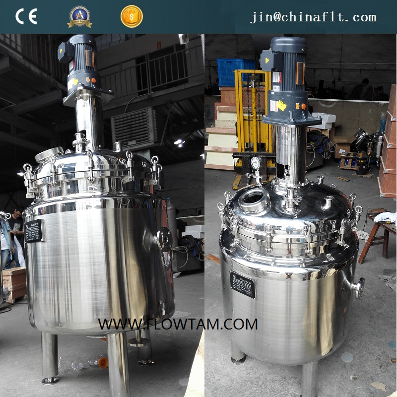1000L coil steam heating jacketed mixing reactor