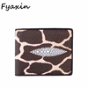 Custom Logo Fashion Credit Card RFID Blocking Crocodile Skin Cow Leather Men's Wallet Genuine Leather