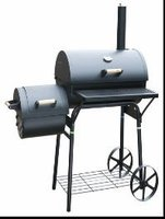 new design big and small brother bbq grill with two big wheels