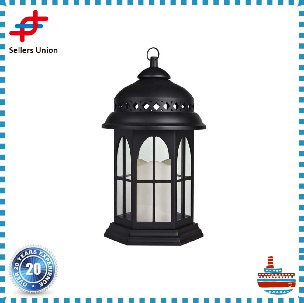 Garden hanging led decorative lantern for candle