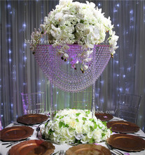Hot sale wave shape crystal chandelier table centerpieces for <strong>weddings</strong>