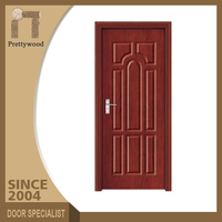Commercial Fireproof Solid Core Fire Wood Balcony Pvc Flush Door