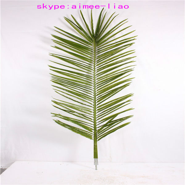 Q080803 cheap artificial palm leaves plastic artificial palm tree leaves roof