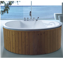 53 inch free standing round whirlpool massage bathtub outdoor SMT014D