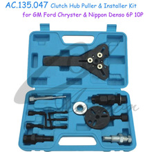 Car A/C Repair tool kit, Clutch Remover Installer with Universal Spanner Wrench