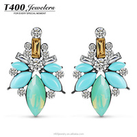 T400 2015 New Fashion Jewelry Wholesale Earrings Made with Austrian Crystal