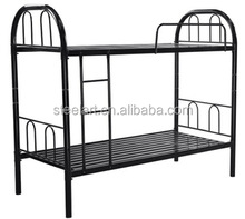 School dormitory used student metal black bunk bed wholesale