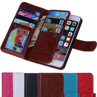 BRG Manufacture for iPhone 6 Wallet Leather Case with Stand Function and Credit Card holders