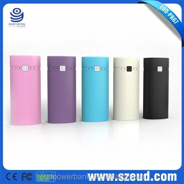 EUD-PB67 RoHS, CE,FCC 5200mAh 5V/1A travel smart power pack/smart power pack/ travel smart power for digital devices