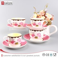 flower shaped personalize chinese white porcelain tea cup and saucer set,flower shaped tea cup