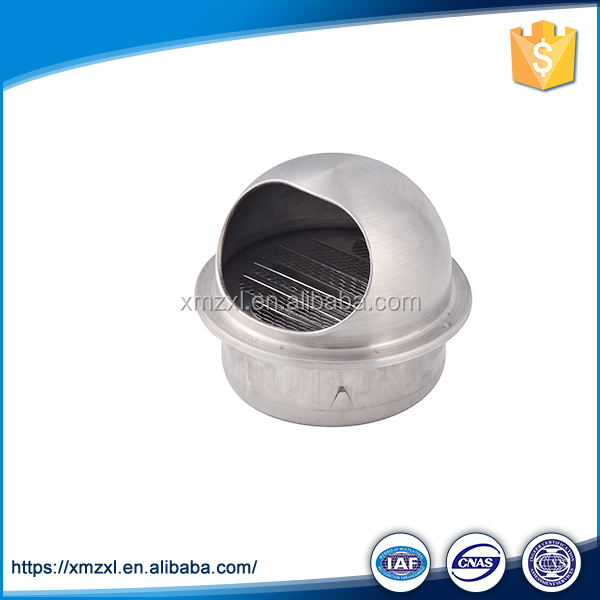 Stainless steel indoor wall round kitchen chimney air vent cover grille