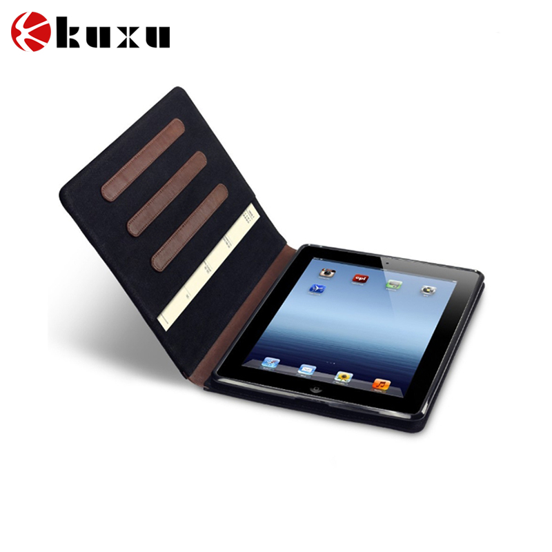 2015 Newly Canvas Leather Stand Case For iPad Air