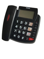 2016 No Voice Mail big button phone with caller id for senior contact number