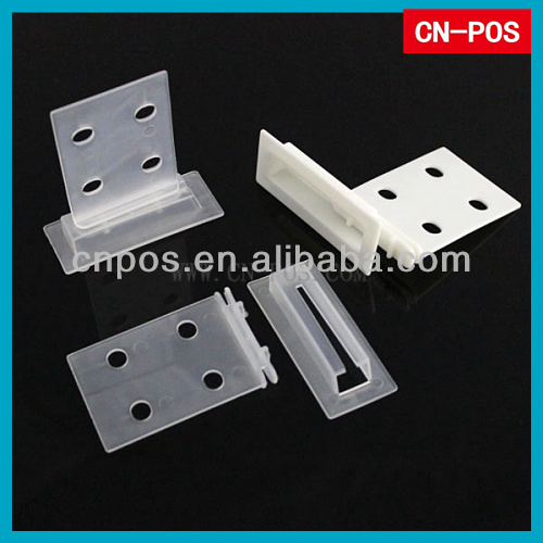 plastic clips for corrugated shelf for protecting carton