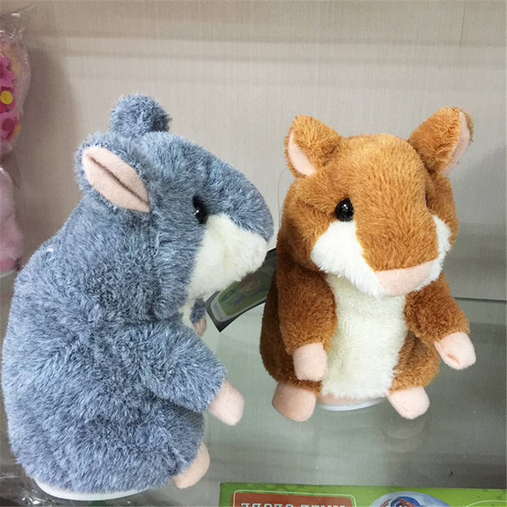 Walking Repeat Talking Sound Record Hamster Sound Record Hamster Plush Toy For Christmas Children Gifts