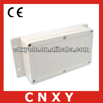 Outdoor cable tv junction box with flange