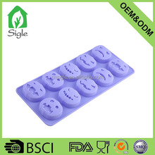 halloween 10 cavity pumpkin shape silicone ice cube tray chocolate mold