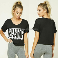 New Arrivals Fashion Black Western Different Kinds Of Women Ladies Outdoor Solid Gym Tee Shirt XXXL Sports Wear 2017