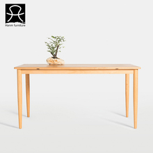 Japanese style popular solid wood dining table simple design tables