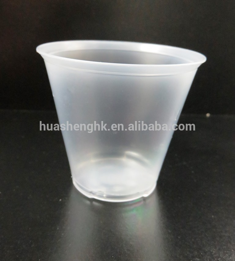 180 ml promotional plastic disposable cups, double layer or single layer