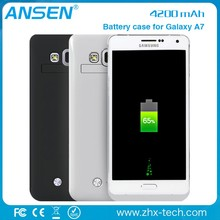 New Arrival portable slim rechargeable battery case for Samsung Galaxy A7 for sony ericsson mix walkman wt13i back cover