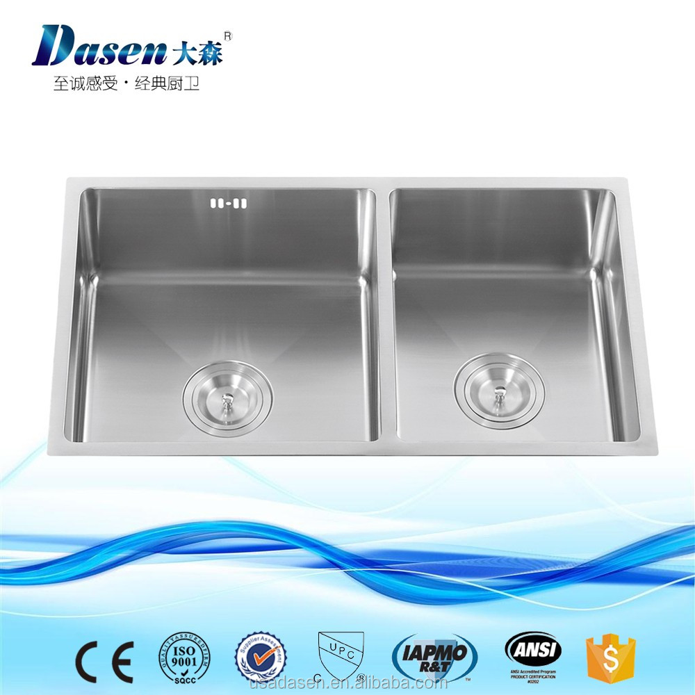 DS-7342 Handmade acrylic bathroom sink metal kitchen sink base cabinet enamel kitchen sink