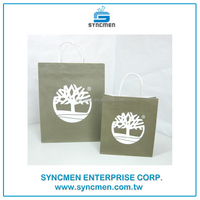 Taiwan Factory Direct High Quality Kraft Paper Bag Gift Shopping Mall for Shoe