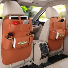 wholesale custom promotional multi-functional pockets felt car seat back organizer with logo
