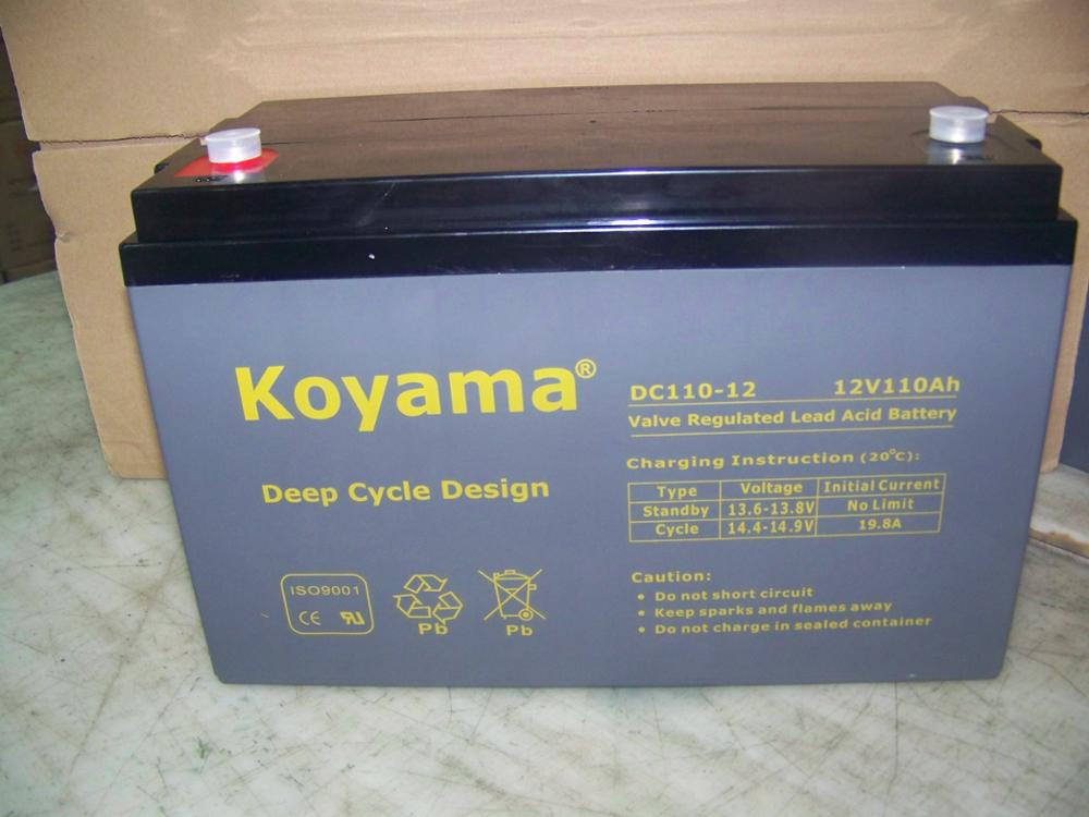 electric boat battery 12V100Ah deep cycle battery for automobile, boat, marine