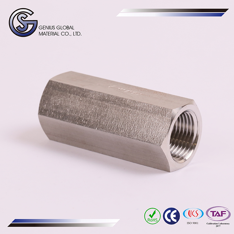 GS-M05 Female Check Valve corrugated decorative stainless steel pipe tube light connector