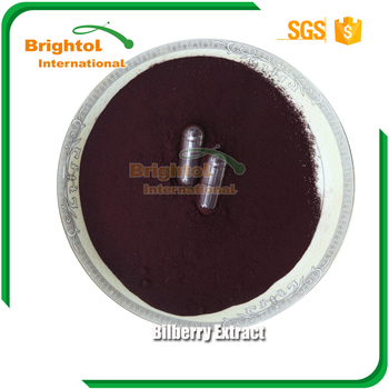 high quality Bilberry Extract anthocyanin 25%