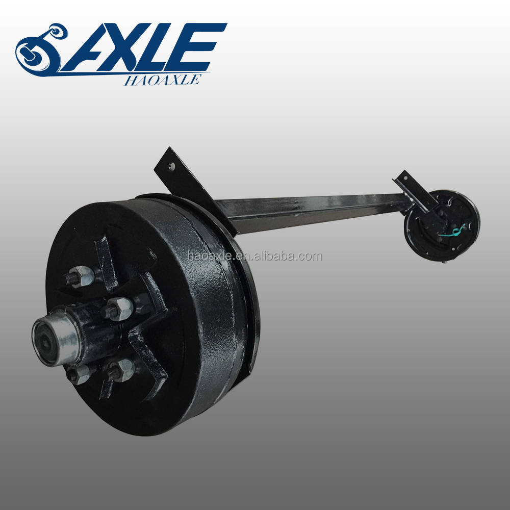 Rubber Torsion Trailer Axle with Electric Brake 1200kg