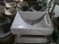 Various wash basin pictures/white stone basin/granite pedestal basin
