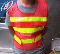 Construction protection reflective vest Orange red highway traffic vests Reflective safety clothing