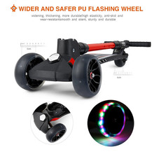 New fashion foldable three big wheel aluminium kick scooter 3 wheels plastic pedal kids scooter child scooter