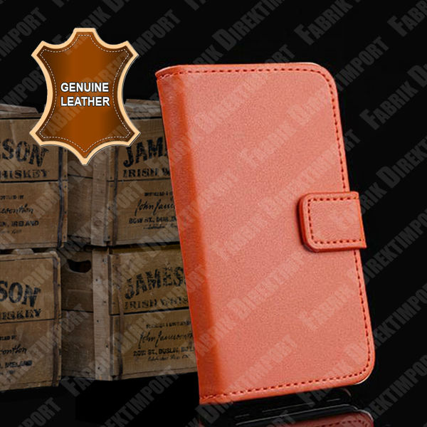 Real New Genuine Leather Flip Case Pouch Bumper for iPhone 5 5S Best Quality