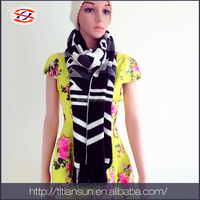 fashionable scarf winter black warm shawls
