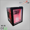 Countertop single glass door commercial cooling display refrigerator showcase
