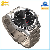 CE FCC RoHS Bluetooth Stainless Steel Smart Watch phone, T2 Round Display Heart Rate Monitor Watch