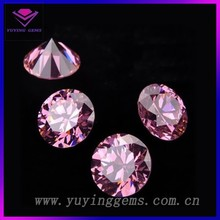 Man made synthetic rough diamond round zirconia stone for sale