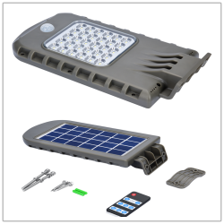 Customized Logo 4W All In One Solar Power Street Led Light Abs Plastic For Park