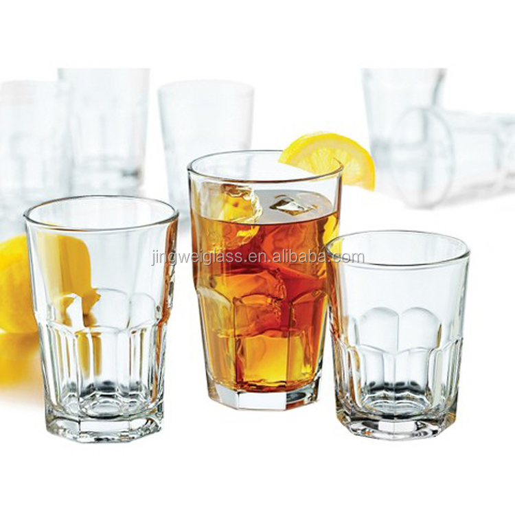 Factory wholesale clear highball drinking glass tumblers
