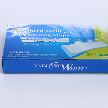 Hot! Home use Advanced Teeth Whitening Gel Strips Professional Dental White Kit
