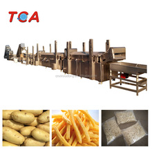 1000kg/h Certified Full-Auto Potato French Fries Production Line / Frozen French Fries Production Line