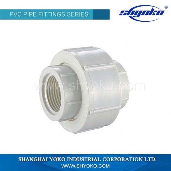 Factory Supply Socket or Thread UPVC Union PN10 PVC Pipe and fitting