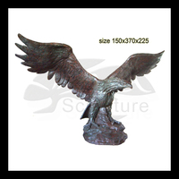 High Quality bronze eagle catch snake sculpture