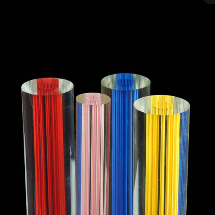 Colorful extrusion leading light acrylic line rod for lighting